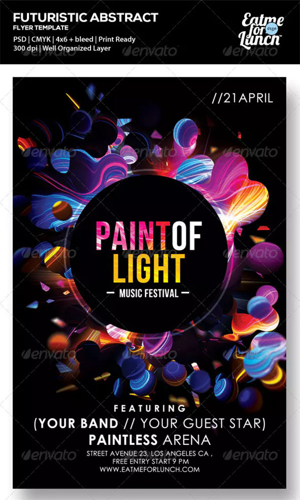 Futuristic Abstract Paint Flyer