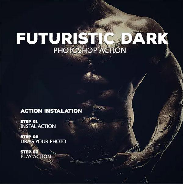 Futuristic Dark - Photoshop Action