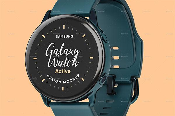 Galaxy Watch Design Mockup