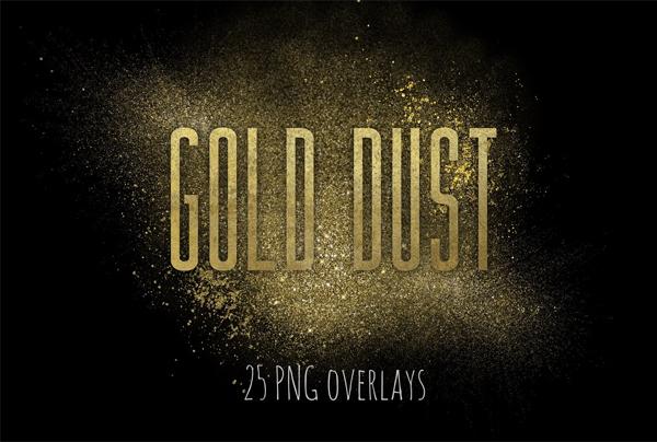 Gold Fairy Dust PSD Overlays