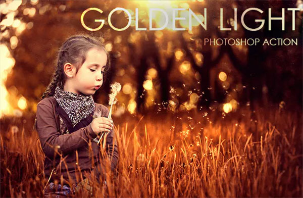 Golden Light Photoshop Action