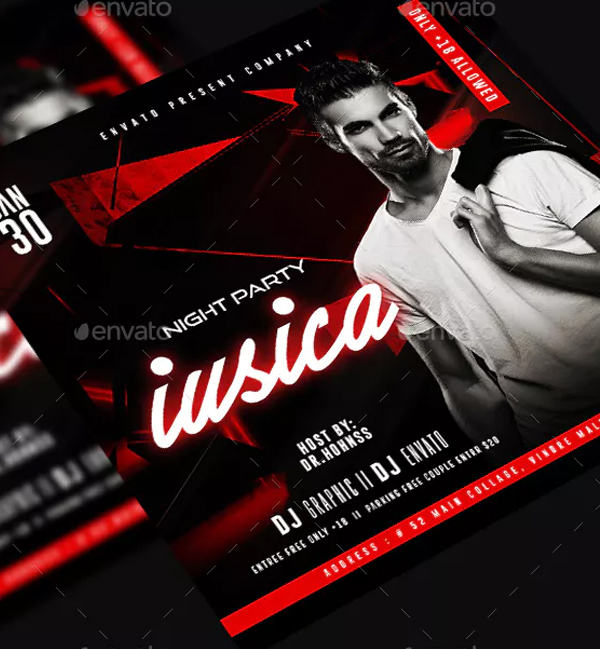 Guest Club Night Flyer Template