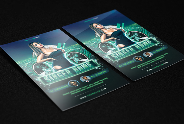 Guest Dj Party Flyer Free PSD Template