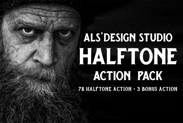Halftone Actions Pack