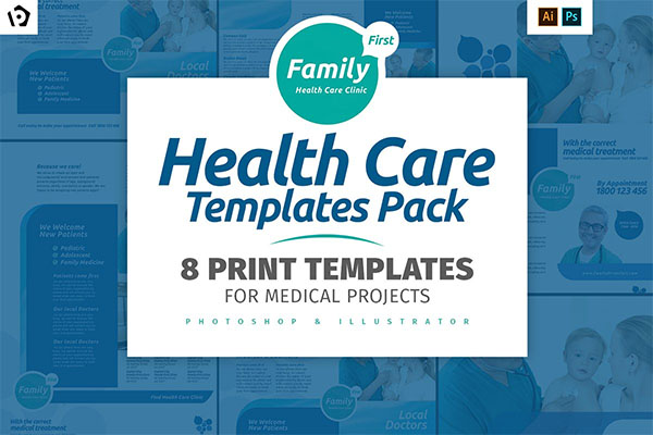 Health Care Design Brochure Template Pack
