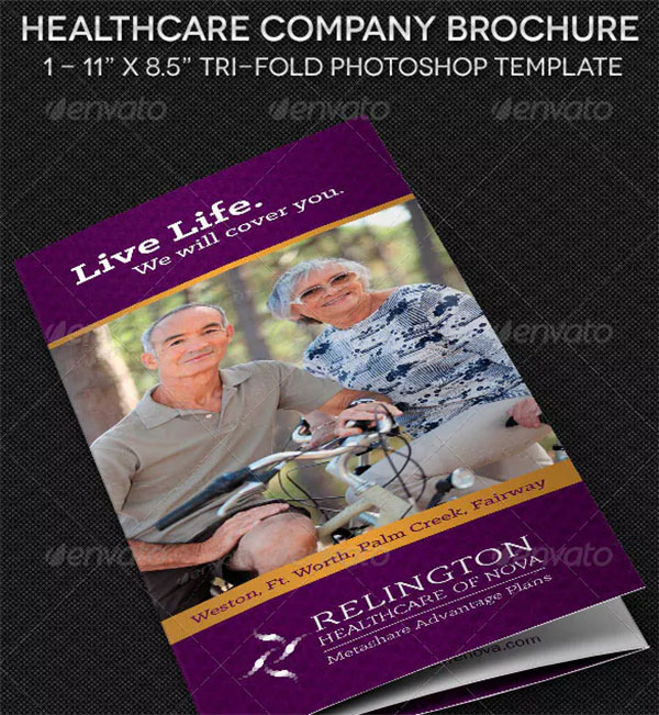 Healthcare Company Brochure Template Design