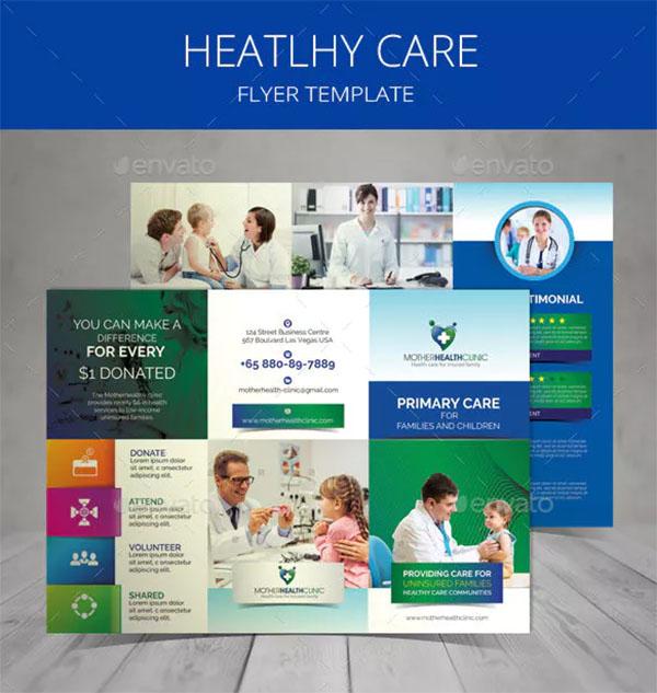 Healthcare Tri-fold Brochure Template