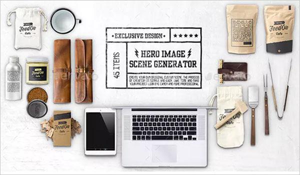 Hero Kitchen Essentials Mockup Creator
