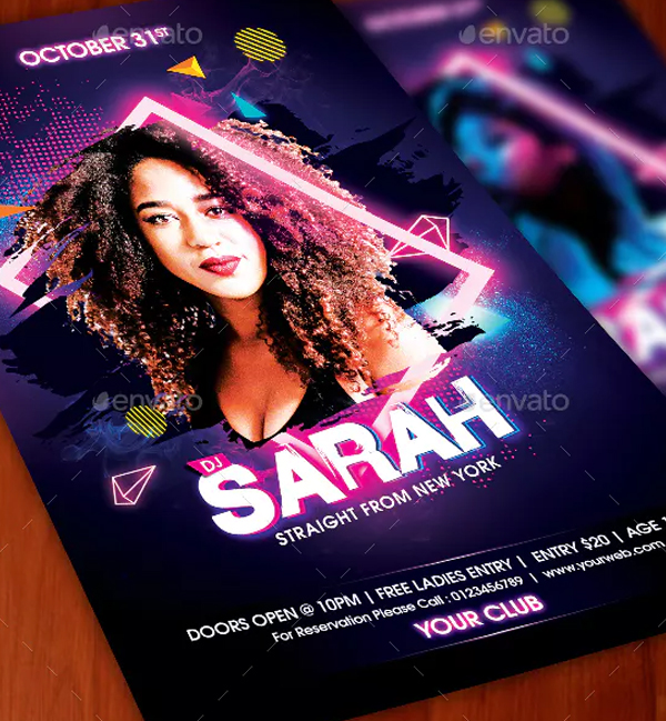 High Quality Dj Guest Printable Flyer Template