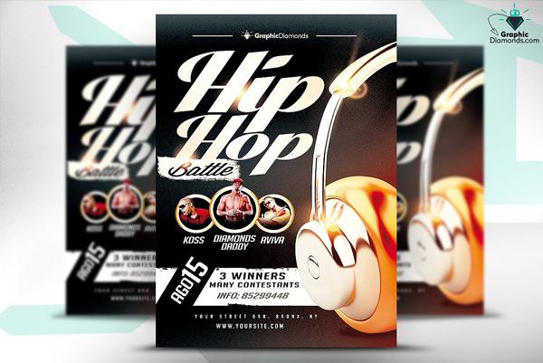 Hip Hop Battle Flyer PSD Contest Template