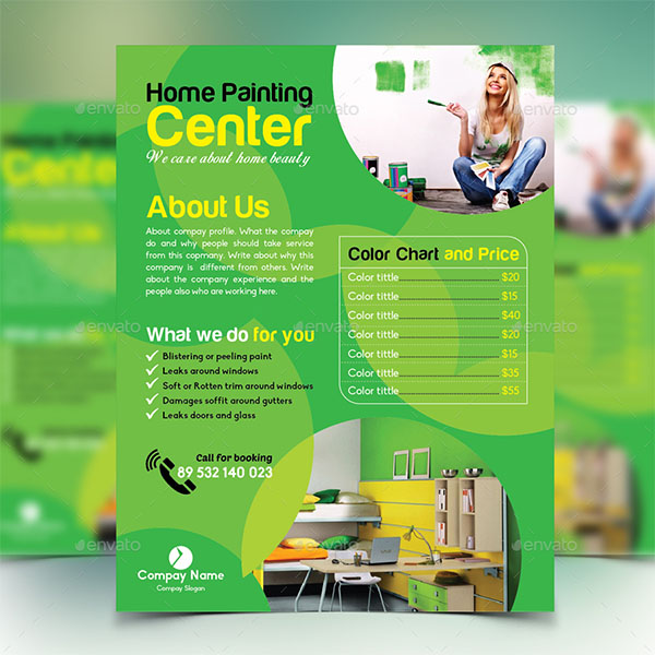 Home Painting Flyer Template
