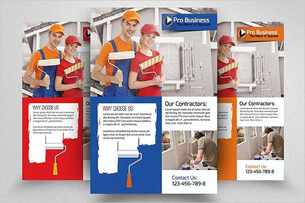 House Paint Service Flyer Design