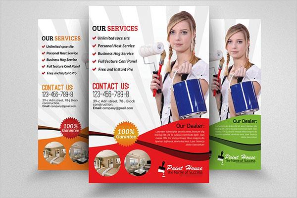 House Paint Service Flyer Template Design