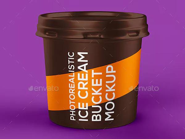 Ice Cream Bucket Mockup