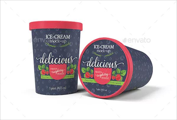 Ice-Cream Bucket Packaging Mockup