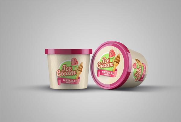 ICE Cream Product Mock-up