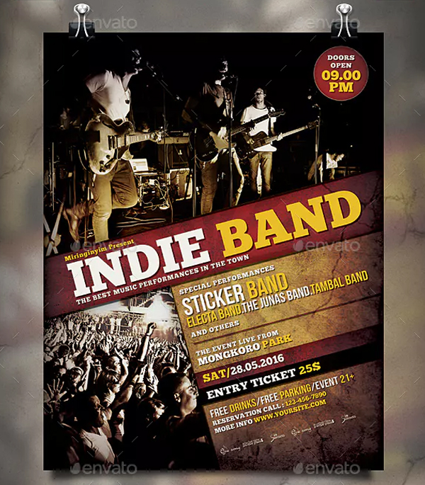 Indie Band Flyer and Poster Template