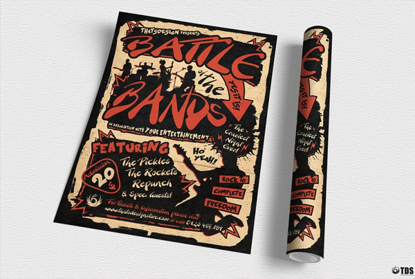 Indie Music Band Tour Flyer Template