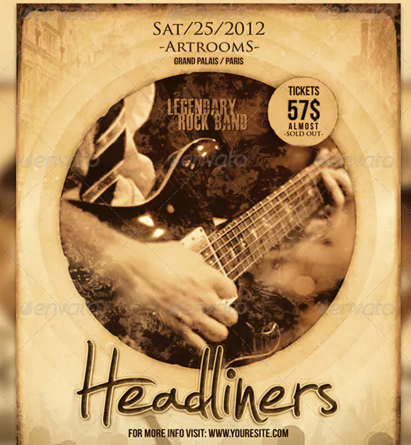 Indie Rock Band Flyer and Poster Template