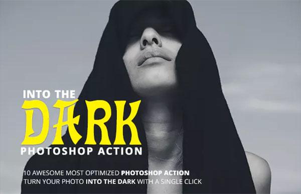 Into The Dark Photoshop Action