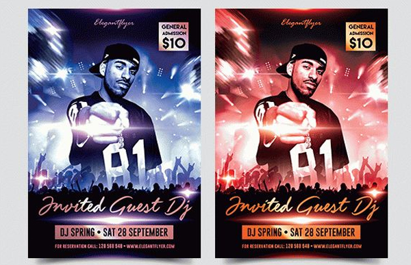 Invited Guest Dj Free Flyer Printable Template