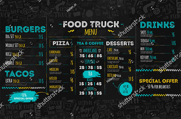 Junk Food Festival Menu Template