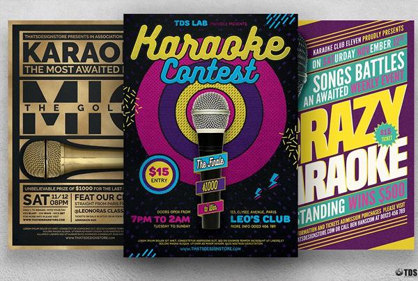 Karaoke Contest Flyer Bundle
