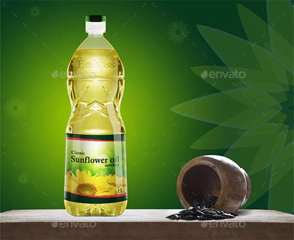Kitchen Oil Plastic Bottle Mockup