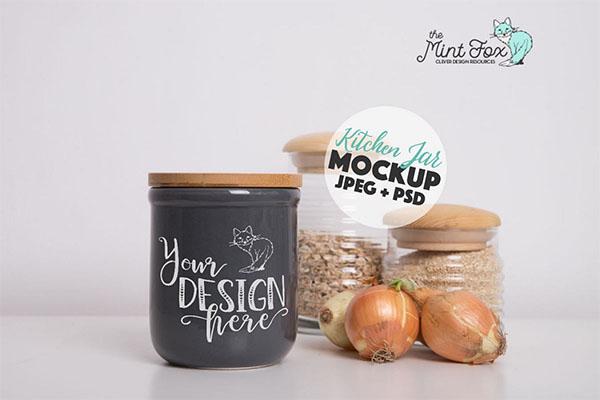Kitchen PSD Jar Mockup