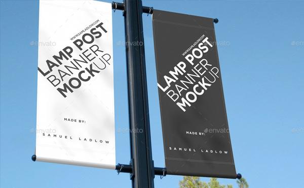 Lamp Post Banner Mockup