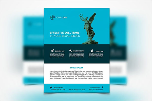 Law Services Flyer Template