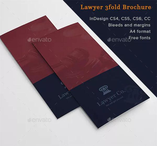 Lawyer 3fold Brochure Template