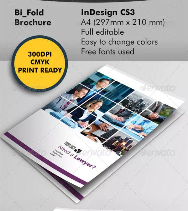 Lawyer Bifold Brochure Template