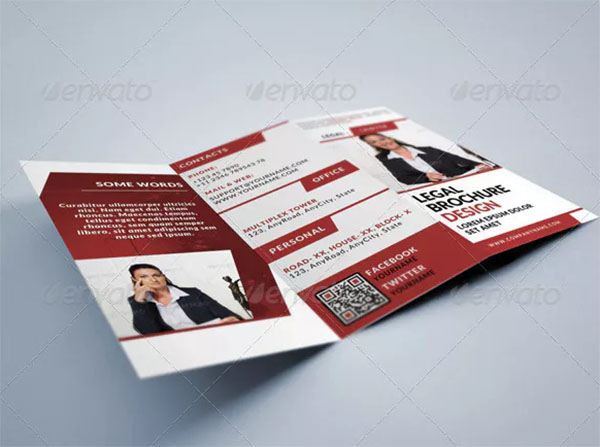 Lawyer Legal Consultancy Tri-fold Brochure