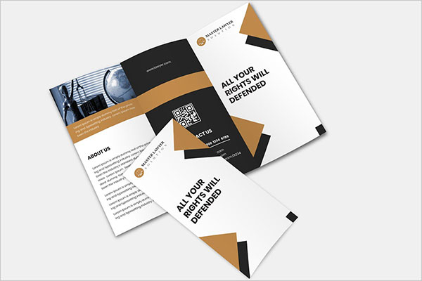 Lawyer Trifold Brochure Template