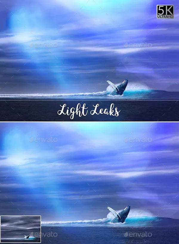 Light Leaks Photoshop Overlays