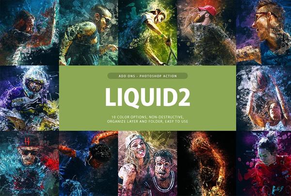 Liquid Photoshop Actions Bundle