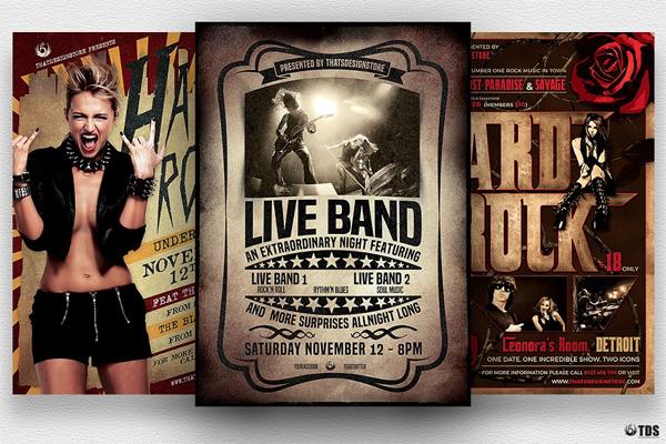 Live Band Flyers Bundle