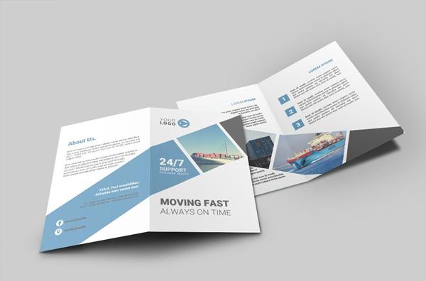 Logistic Bi-Fold Brochure Design Template