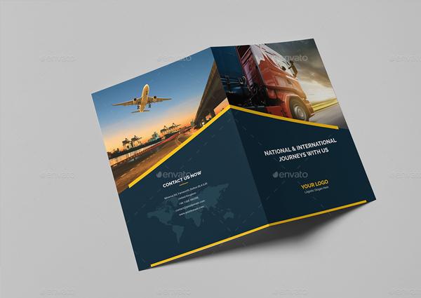 Logistic Bi-Fold Brochure Template