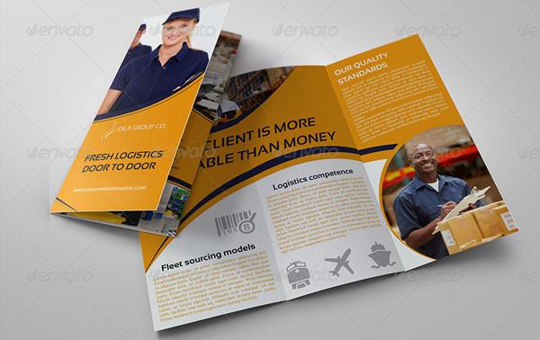 Logistic Services Tri-Fold Brochure Template