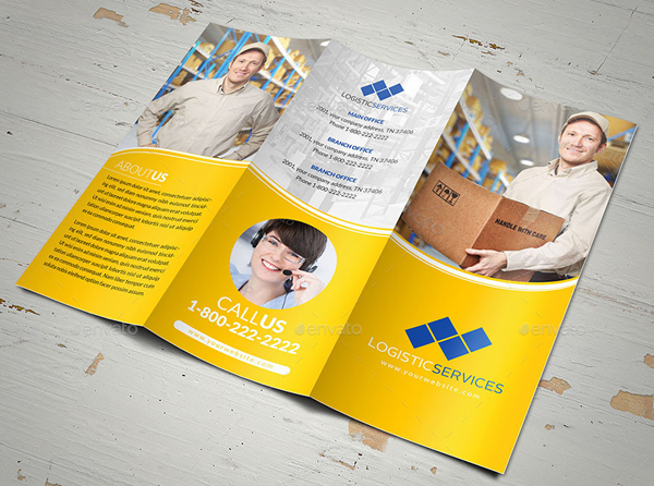 Logistic Services Tri-Fold Brochure