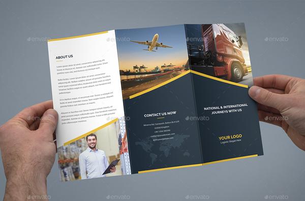 Logistic Tri-Fold Printable Brochure Template