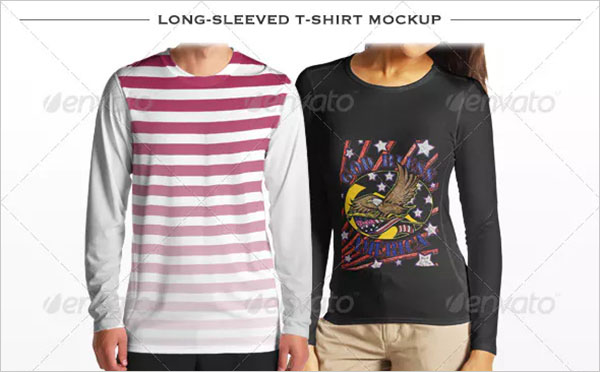Long-sleeved T-shirt Mockup