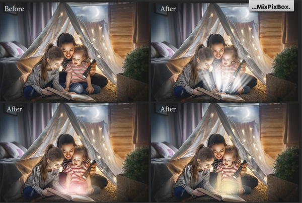 Magic Book Light Photo Overlays