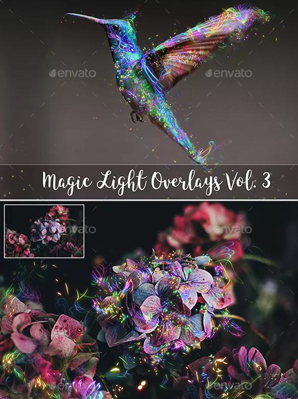 Magic Light Photoshop Overlays