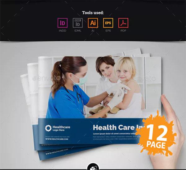 Medical Health Care Brochure Design Template