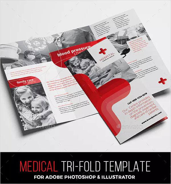 Medical Tri-Fold Brochure Template