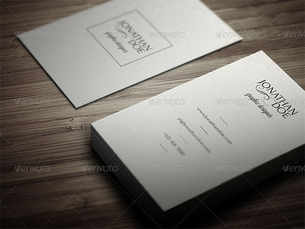 Minimal Vintage Business Card Template
