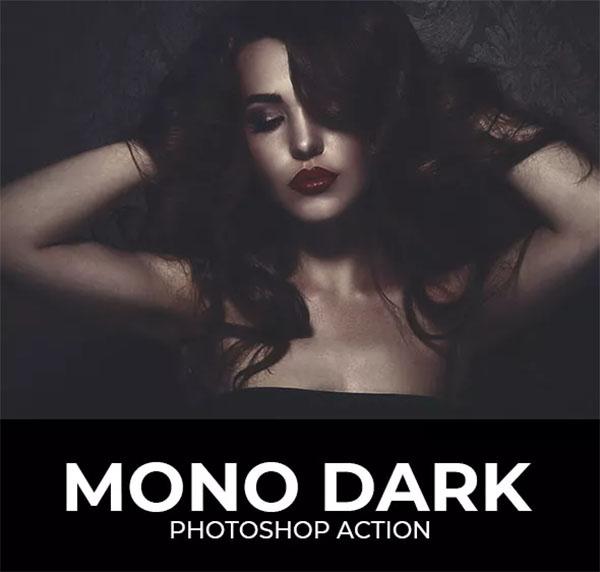 Mono Dark Photoshop Action